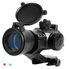 Tactical 32mm Red/Green Dot Rifle Scope Sight Picatinny Weaver Rail Mount STGG