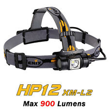 Fenix HP12 Cree XM-L2 LED 900 Lumens 18650/CR123A Flashlight Headlamp Headlight