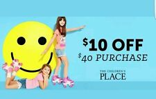 === 2 CODES === The Children's Place ===== $10.00 OFF == purchase of $40 or more
