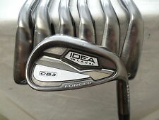 Adams Idea Black CB3 Forged 4-PW Iron Set Aerotech Steelfiber Stiff Flex Used rh