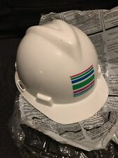 MSA TYPE I PROTECTIVE HELMET, Safety Hardhat Work, Construction, White NEW.