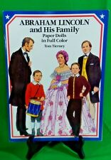 Vintage Dover Tom Tierney Abraham Lincoln and His Family Paper Dolls Book UNCUT