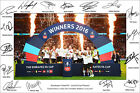 MANCHESTER UNITED SIGNED PHOTO POSTER PRINT SQUAD 2016 MAN UTD FA CUP ROONEY