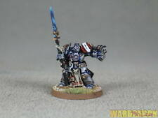25mm Warhammer 40K WDS painted Grey Knights Brother Captain g73