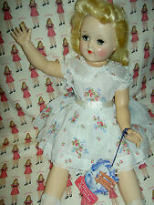Labeled & tagged beautiful Ideal TONI P93 golden blond, 1950s BIG doll w/curlers