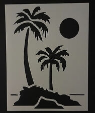 "Palm Trees Tree 8.5"" x 11"" Stencil FAST FREE SHIPPING"