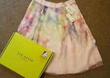 TED BAKER GLENIS HANGING GARDENS MIDI Silk SKIRT Size 5 uk 16 new with tags