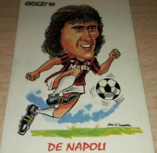 CARD GOLD 1993 MILAN DE NAPOLI CARICATURA CALCIO FOOTBALL SOCCER ALBUM