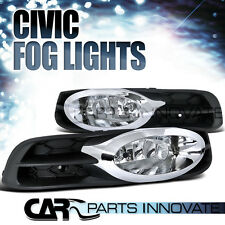 Fit 2012-2013 Honda Civic 2Dr Coupe Clear Fog Lights Driving Bumper Lamp+Switch