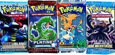 ① 4 BOOSTERS de CARTES POKEMON Neuf Aucun double en FRANCAIS (Lot N° AAL)