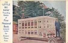 Postcard Little Big Bank exhibit First National Bank in Bangor, Maine~111713