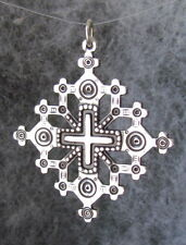"Old Hutsul 3D Cross Pendant, Oxidized + Sterling Silver, 1 1/2""X 1 1/2"", NK"