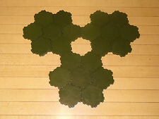 Heroscape Terrain - 21 x 1-Hex Green Swamp Water Tiles - Expand Your Battlefield
