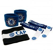 Chelsea Fc Accessories Set Football Wristbands Sweatbands Captain Club Fan New