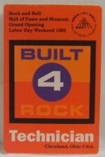 ROCK AND ROLL HALL OF FAME GRAND OPENING - ORIGINAL CLOTH CONCERT BACKSTAGE PASS