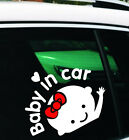 "White Cute Girl Baby On Board ""Baby in car"" Window Car Sticker Vinyl Decal Hot!"