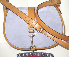 Michael Kors Jamie Large Lilac Saddle Messenger Cross body Bag Leather NWT $328