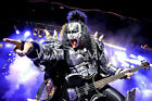 Gene Simmons Sings Dr. Love 8x10 Color Photo Kiss Rock N Roll Group Band
