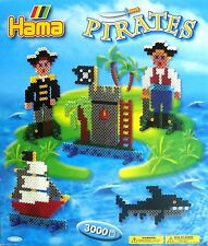 HAMA MIDI BEADS REF 3229 - PIRATES GIFT SET WITH 3000 BEADS - BRAND NEW!!