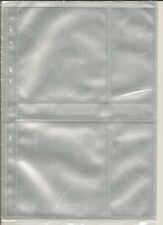 A4 CD Acid Free Sleeves pack of 10 [2 pocket CD size] A4 Size - archive quality
