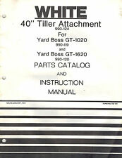 "WHITE 40"" TILLER ATTACHMENT OPERATOR'S MANUAL"