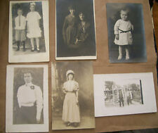 lot of 6 antique postcards photographs of people