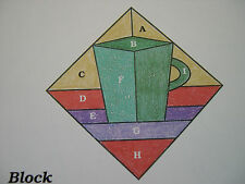 Coffee Cups Quilt Pattern Spinning Spools w/uncut plastic templates