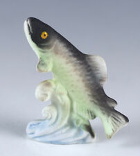 Vintage Miniature Bone China Trout Fish Figurine Matte Finish Made In Japan