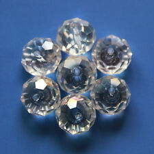 100Pcs Big 8MM K9 Crystal Spacer Glass Beads Faceted Fire Polished AB Color DIY