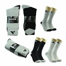 New Adi 12 Pairs Mens Comfort Cotton Sport Athletic CREW Socks Long Size 10-13