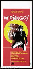 W DJANGO! LOCANDINA CINEMA FILM WESTERN EDOARDO MULARGIA 1971 PLAYBILL POSTER