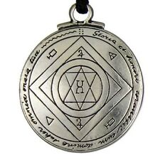 Amulet Pendant Necklace Talisman Good Luck Key of Solomon Pentacle Seal Pendant