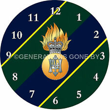 ROYAL HIGHLAND FUSILIERS GLASS WALL CLOCK