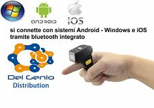 MINI MICRO LETTORE CODICE A BARRE BARCODE SCANNER BLUETOOTH SENZA FILI WIRELESS