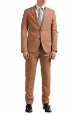 Maison Martin Margiela Men's 100% Wool Brown Slim Two Button Suit US 38 IT 48