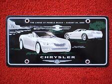 PORCELAIN PLATE, COLLECTOR'S CHRYSLER 300 HEMI C CONCEPT CAR. 2OOO PEBBLE BEACH