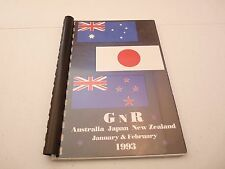 Guns & Roses RARE 1993 Australia Japan New Zealand Concert Tour Itinerary