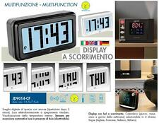 LOWELL JD9014 OROLOGIO e SVEGLIA DIGITALE DISPLAY LED a SCORRIMENTO SENSORE LUCE