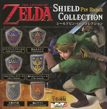 OFFICIAL NINTENDO  ZELDA SHIELD PINS BADGE COLLECTION LIMITED 1988 VERSION