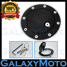02-08 Dodge RAM Truck 1500 Black Replacement Billet Gas Door Tank Cover Lock+Key