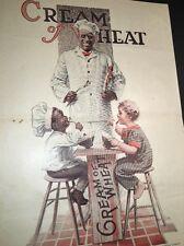 Cream Of Wheat Ad Rastus Black Man Memorabilia 1919 Brewer Art 2 Kids Crate Tabl