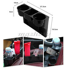 Universal Black 2 Cup Holder Drink Beverage Seat Seam wedge Car Auto Truck Mount