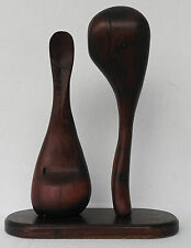 NEO-AMERICAN GOTHIC SCULPTURE WOOD ABSTRACT MID CENTURY MODERN DANISH
