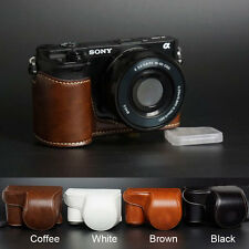 PU Camera Leather Case Bag Strap for Sony NEX-3N A5000 A5100 With 16-50mm Lens