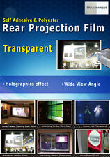 "Transparent, Holographic Rear Projection Film: 50""(4:3 Ratio- 1000x750mm)"