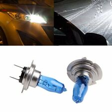 2 Pcs H7 6000K Gas Halogen Headlight White Light Lamp Bulbs 100W Bright DC 12V