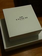 "New Authentic Coach BIG Gift Box With Coach Tissue Paper 19.5"" x 15.5"" x 6"""