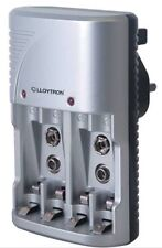 LLOYTRON COMPACT PLUG-IN BATTERY CHARGER-FOR AA/AAA AND PP3 BATTERIES