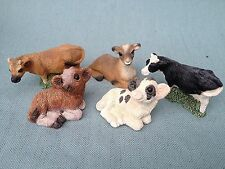 STONE CRITTERS LOT LITTLES USA COW CALF JERSEY GOAT SCL 2 172 188 165 BLACKBROWN