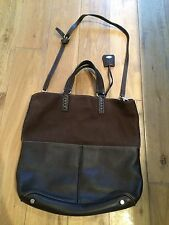 Tods Tod's Brown Suede Leather Large Bag Shoulder Strap Cross Body Pockets
